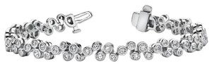 Avi and Co 1.65 cttw Round Brilliant Cut Diamond Baubles Tennis Bracelet 14K White Gold