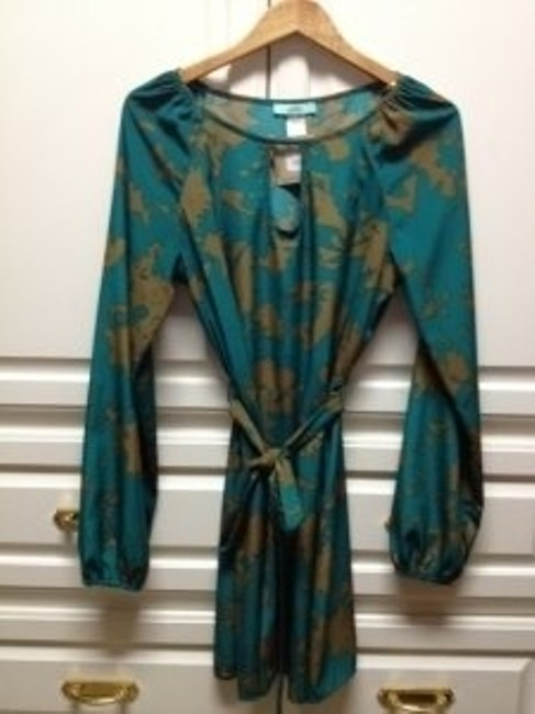 Karlie short dress Green and Gold Floral on Tradesy