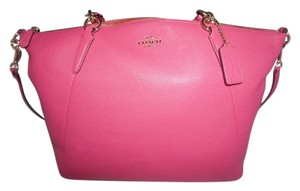 Coach Leather Hot Pink Pink Summer Tote