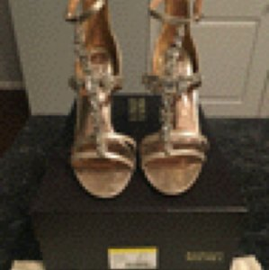 Badgley Mischka Platino Metallic Suede Formal