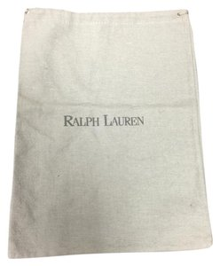 Ralph Lauren Ralph Lauren Gray Felt Dust Bag with Charcoal logo