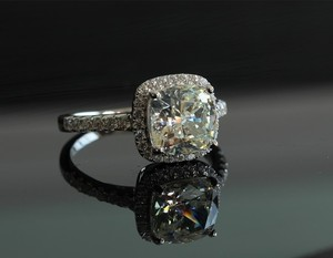 All Sizes 4.5 5 6 7 8 In Stock Diamond Ring Cushion Pt950 Lab Man Certified 3ct Vvs1 Engagement Proposal Wedding Pt950