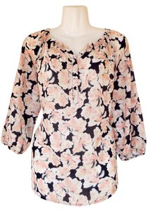Apt. 9 Quarter Sleeves Floral Peasant Raglan New Top