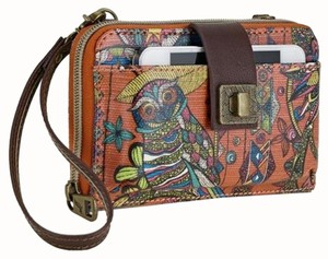 Sakroots Terra Cotta Desert Spirit Cross Body Smartphone iPhone6 Wallet Bag