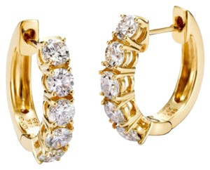 Avi and Co 1.50 cttw Round Brilliant Cut Diamond Huggy Earrings 14K Yellow Gold