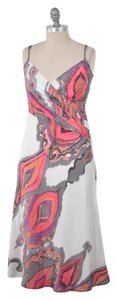 Trina Turk Bias-cut Silk Paisley Spaghetti Strap Dress