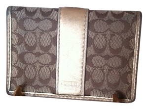 Coach Coach Leather & Canvas ID Wallet