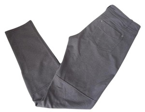 Athleta Straight Pants Gray / Brown