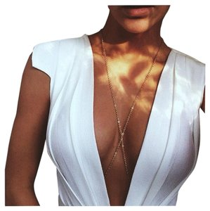 Body chain jewelry Gold cross over Body necklace jewelry chain,2017 trend