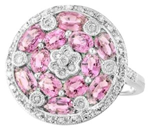 Diana M. 18KT White gold Pink Sapphire and Diamond Ring