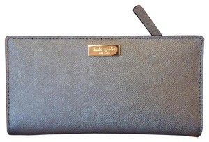 Kate Spade Newbury Lane Stacy Clutch Wallet Anthracite Saffiano Leather WLRU1601