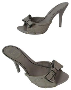 Dior Christian Heel High Heel Gris Vison Sandals