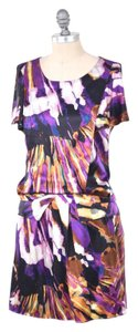 Ali Ro short dress Purple Abstract Print Silk Charmeuse Drop-waist Mini on Tradesy