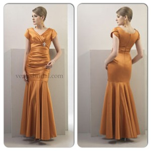 Venus Bridal Persimmon (Orange) Tm1583 Dress