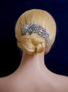 Brand New Bridal Crystal Hair Comb Vine Rhinestone Flower Large Hair Clip Wedding Bridal Prom Floral Luxury