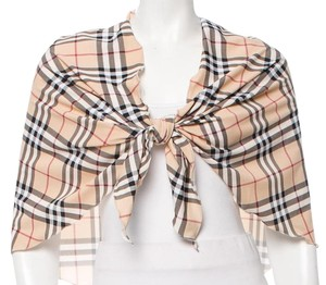 Burberry Tan, black, red Burberry Nova check print sarong scarf