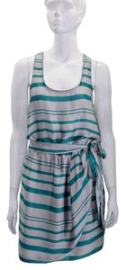 Collective Concepts short dress Gray | Sea Green Sleeveless on Tradesy