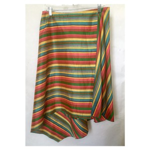 Max Mara Stripe Silk Sale Skirt multi bright colors