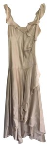 Banana Republic Silk Wrap V-neck Evening Sleeveless Dress