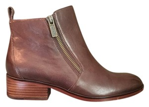 Cole Haan Bootie Flat Worn Leather Brown Boots