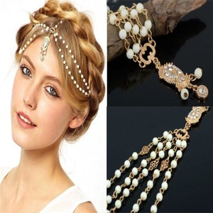 Rhinestones Crystals Bridal Wedding Hair Chain Hair Accessory Head Chain Headdress Headpiece Forehead Band Trendy 2016