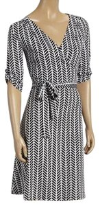 AA Studio Wrap Stripe Black And Size 6 Strawberry Fields Dress