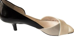 Franco Sarto Leather White, Black and Grey Pumps