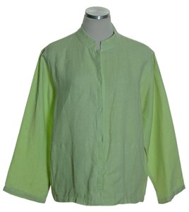 Eileen Fisher Linen Long Sleeve Light Green Jacket