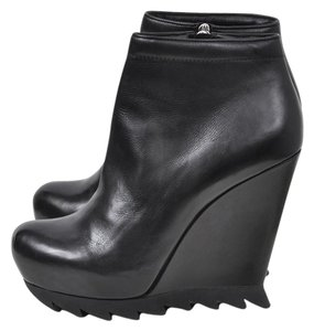 Camilla Skovgaard Leather Wedge Bootie Black Boots
