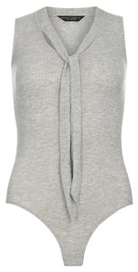 Dorothy Perkins Bodysuit Top Grey
