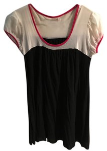Sweet Pea by Stacy Frati Flowy Nylon Top Black/White