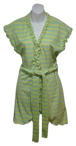 Betsey Johnson Betsey Johnson Green Striped Terry Robe