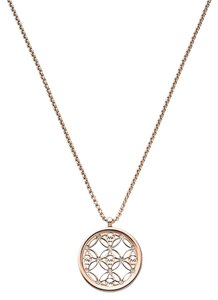 Michael Kors Michael Kors MKJ4285791 Women's Rose Gold tone MK Logo Pendant Chain Necklace NEW! $115