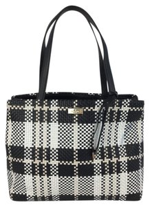 Kate Spade Porcha Barton Satchel in Black and White