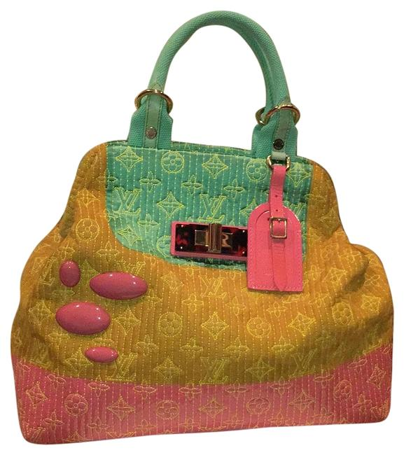 Item - Firebird Sea Green Mustard & Pink Leather Suede Patent Leather Tortise Shell Baguette
