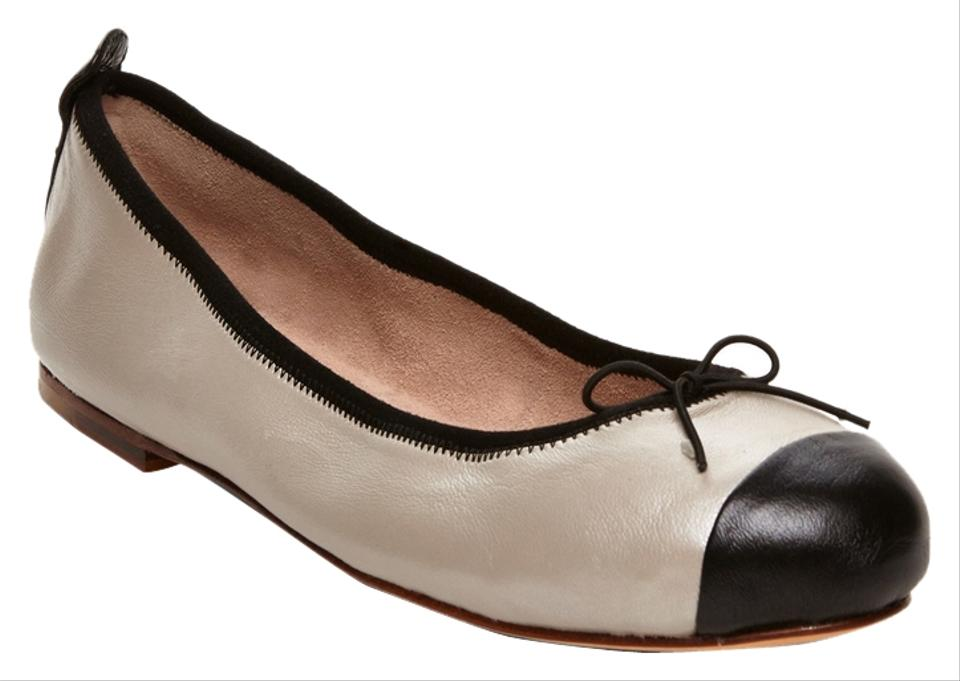 Bloch New Pearl Black Leather & Taupe Classica Leather Black Ballet Flats 3fa9f5