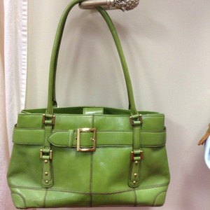 Maxx New York Leather Tote in Green