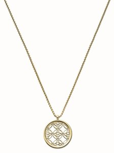 Michael Kors Michael Kors MKJ4284710 Women's Gold tone MK Logo Pendant Chain Necklace NEW! $115