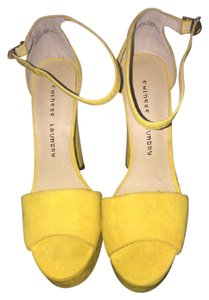 Chinese Laundry Yellow Wedges