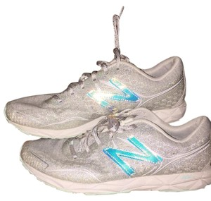 Heidi Klum for New Balance Sneakers white silvery blue Athletic