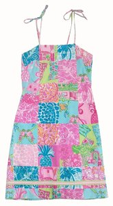 Lilly Pulitzer Multi Pattern Quilt Shift Dress