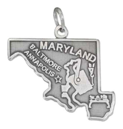 Other Sterling Silver Antiqued Maryland State Charm