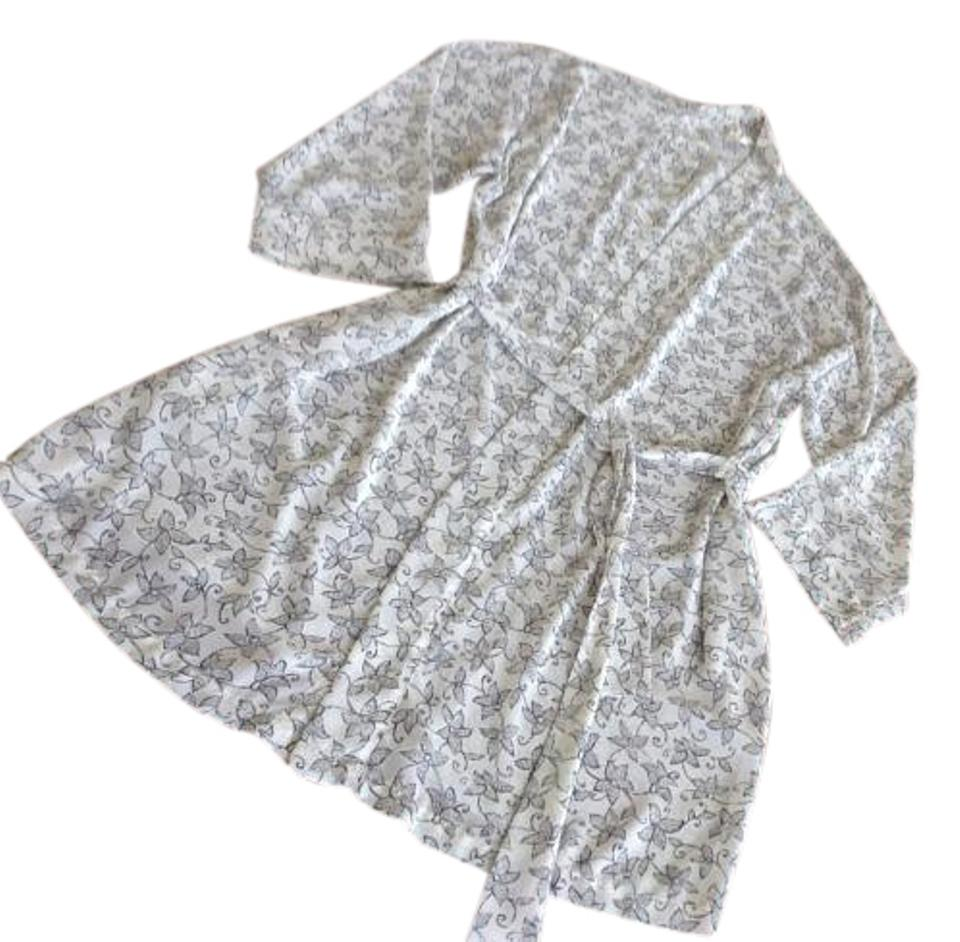 Grey Dressing Gown Short Night Out Dress Size 6 (S) - Tradesy