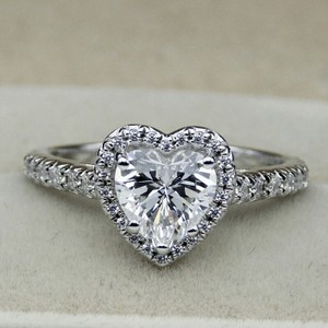 9.2.5 Sizes 4 5 6 7 8 9 In Stock 1.5 Carat Diamond Ring Heart Shape Band Wedding Bridal Cz Diamond S925 Sterling Silver