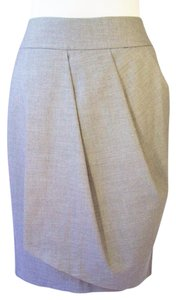 United Colors of Benetton Pencil Asymmetrical Skirt Gray