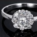 9.2.5 Sizes 4.5 5 6 7 8 9 In Stock Sterling Silver S925 Engagement Flower 1 Carat Floral Vintage Ring 9.2.5 Sizes 4.5 5 6 7 8 9 In Stock Sterling Silver S925 Engagement Flower 1 Carat Floral Vintage Ring Image 4