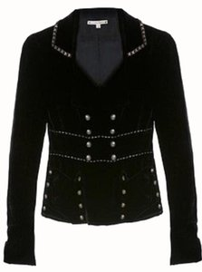 Nanette Lepore Velvet Beaded Military Military Jacket