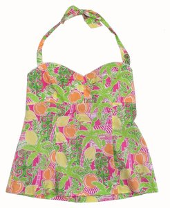 Lilly Pulitzer Multi Color Fruit Print Top