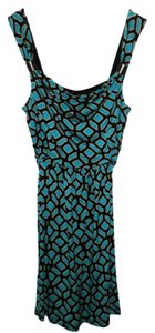 Apt. 9 short dress Turquoise Printed Print on Tradesy