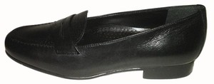 Easy Spirit Loafers Leather Flat Black Flats